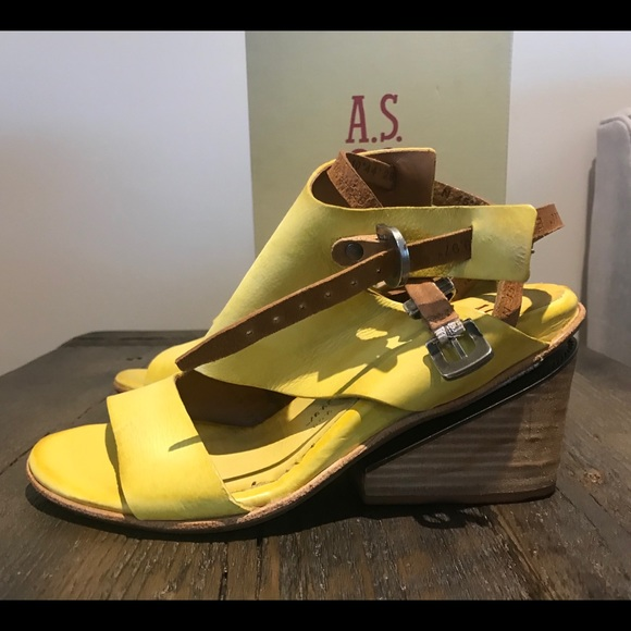 A.s.98 AS 98 Sandals yellow new